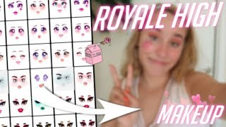 Attempting Royal High Roblox Makeup 2