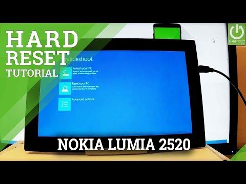 NOKIA Lumia 2520 HARD RESET / Bypass Password / Windows Format