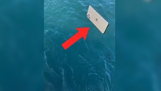 THROWING DAD'S iPHONE IN OCEAN PRANK (GONE WRONG) 😳 #shorts