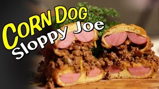 Corn Dog Bun Sloppy Joe Sandwich Recipe  |  Hellthyjunkfood