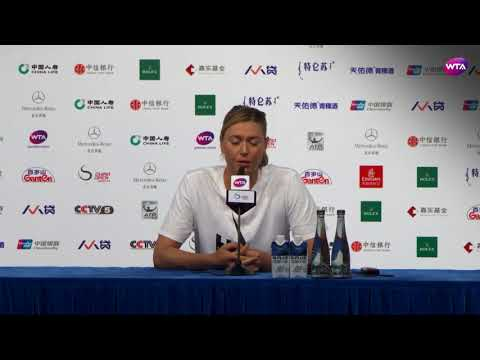 2017 Beijing Post-Match Press Conference: Maria Sharapova on meeting Simona Halep in the next round