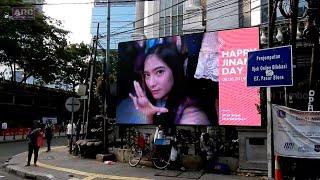 "Videotron Happy Birthday ""Jinan JKT48"" di Jalan Blora"