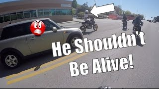 Angry Lady Runs Biker Off The Road | 360WheelieChallenge Gone Horribly Wrong!