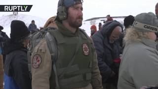 RAW: Military veterans arrive to support Dakota Access Pipeline protests