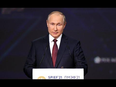 St Petersburg International Economic Forum plenary session. Part 1