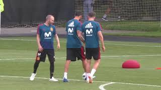 Saúl Entrena con la Selección Española en Krasnodar