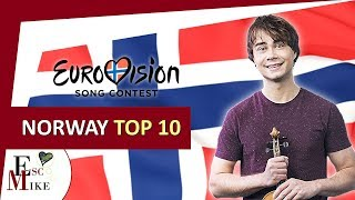 Eurovision Norway 2018 [MGP] - My Top 10 [With RATING]