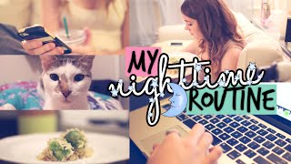 My Nighttime Routine for School! 2015! // Jill Cimorelli