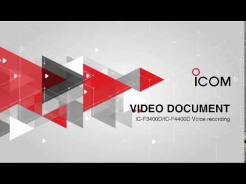 Ic F3400 F5400 Voice Recorder Instructions Youtube