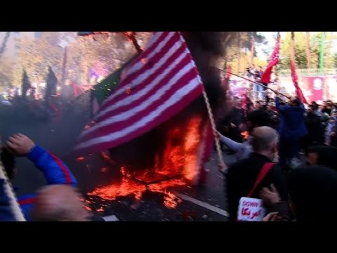 Iranians hold anti-US rally for anniversary of hostage crisis