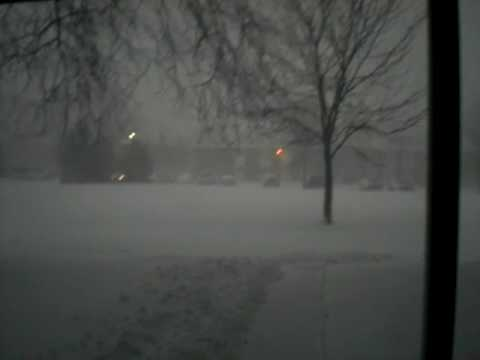 Snow storm in Waukegan ,IL