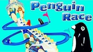 AWESOME Penguin Race Game! Fun Kids Penguin Electric Ski Race Slide + Surprise Toys by DisneyCarToys