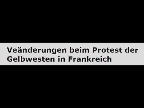 Veänderungen beim Protest der Gelbwesten in Frankreich - Bernard Schmid, freier Journalist