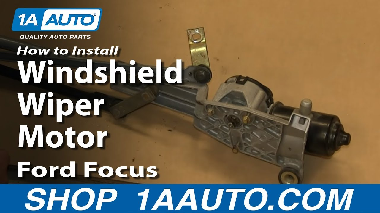 How To Install Replace Windshield Wiper Motor 200209 Ford Focus  YouTube