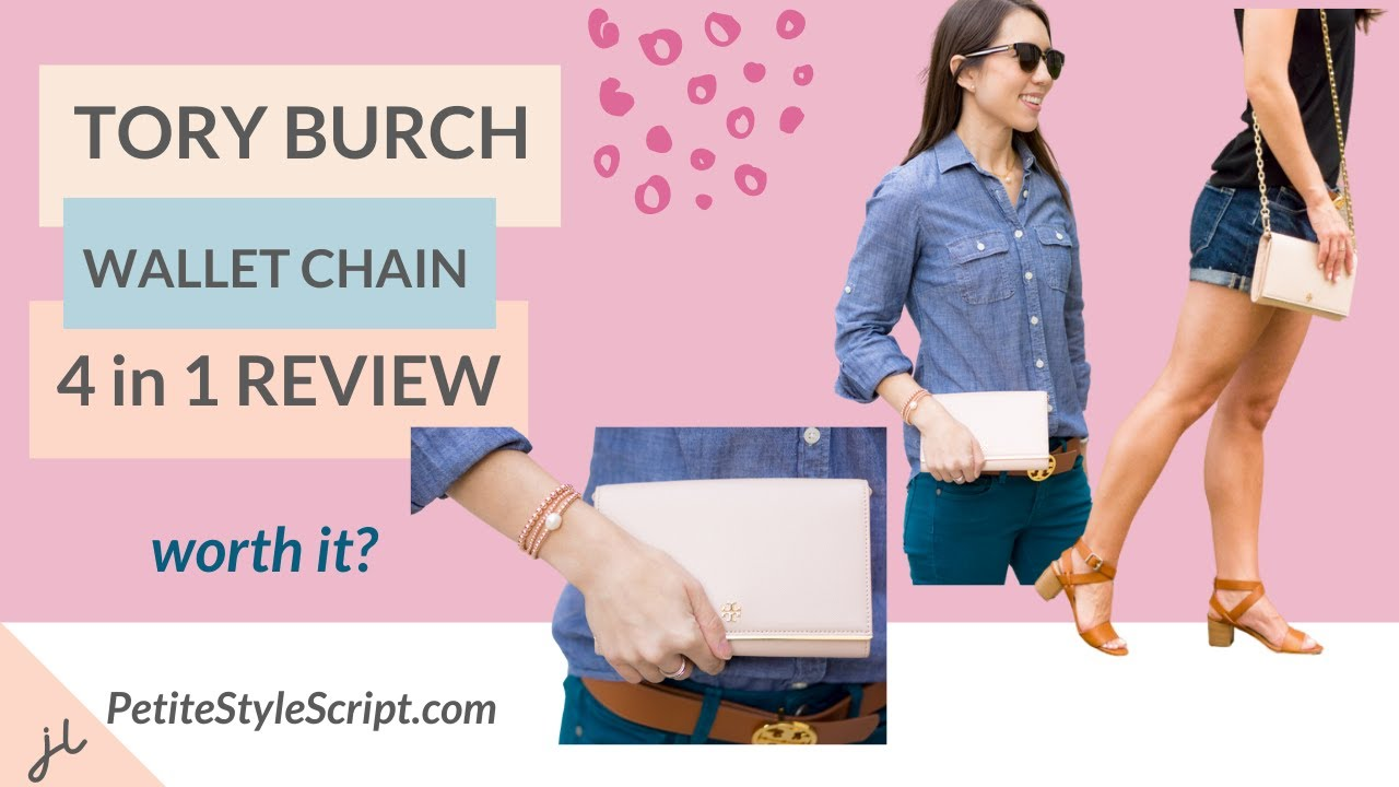 075a7e958400 Tory Burch Robinson Chain Wallet Review - 4 in 1 Item - YouTube
