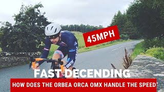 Fast Cycle Downhill Decent on 2019 Orbea Orca OMX Road Bike
