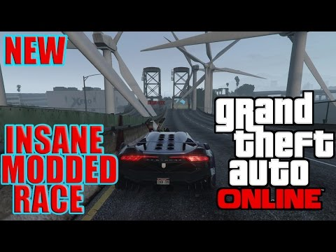 Gta 5 Online- INSANE MODDED RACE!!! TURBINES EVERYWHERE!!!!!