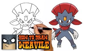 How to Draw Weavile | Pokemon