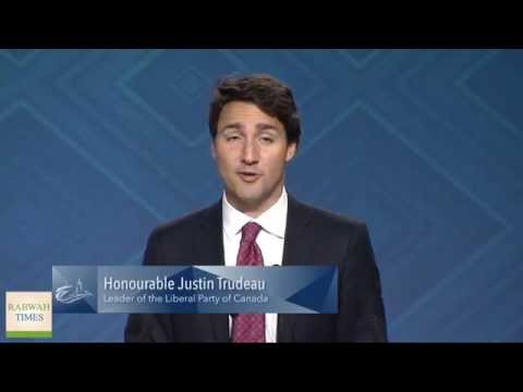 Liberal Party leader Justin Trudeau at Ahmadiyya Muslim convention in Canada 2015