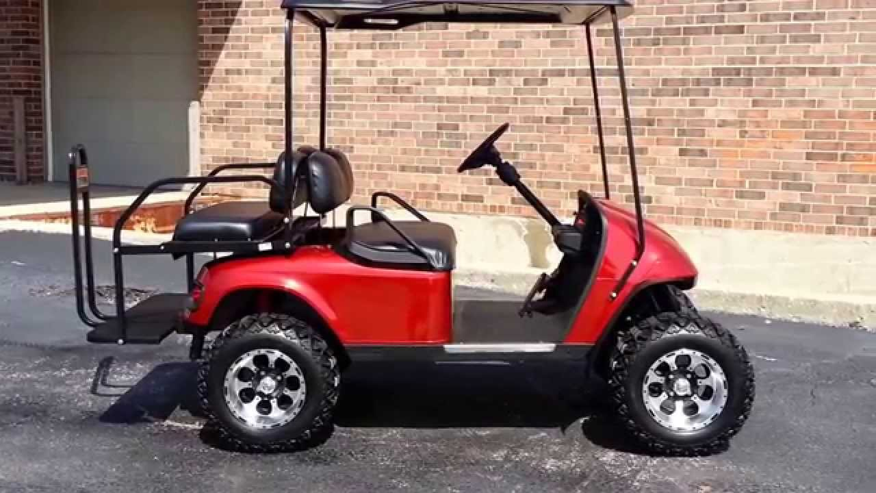 Candy Apple Red Metallic Custom Lifted EZGO PDS Golf Cart Turn ... on golf cart shocks, golf cart transmission, golf cart cooling system, golf cart bumpers, golf cart wire, golf cart dash, golf cart compass, golf cart solenoids, golf cart switches, golf cart hazards, golf cart ignition switch, golf cart coils, golf cart exhaust systems, golf cart speedometer, golf cart cables, golf cart fuel system, golf cart handlebars, golf cart wipers, golf cart dimmer switch, golf cart relays,