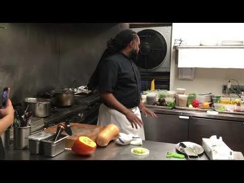 Cooking Demo By Chef Brandon Walker Of Essie's Restaurant In Poughkeepsie