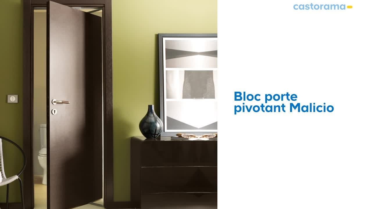 bloc porte pivotant malicio 574163 castorama youtube. Black Bedroom Furniture Sets. Home Design Ideas