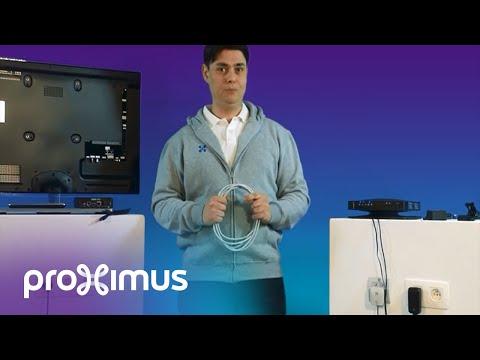 Uw decoder op uw modem via ethernet kabel aansluiten
