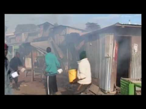 RAW CLIPS FROM KENYAS POST ELECTION VIOLENCE PT 2 © W I R MEDIA 2007