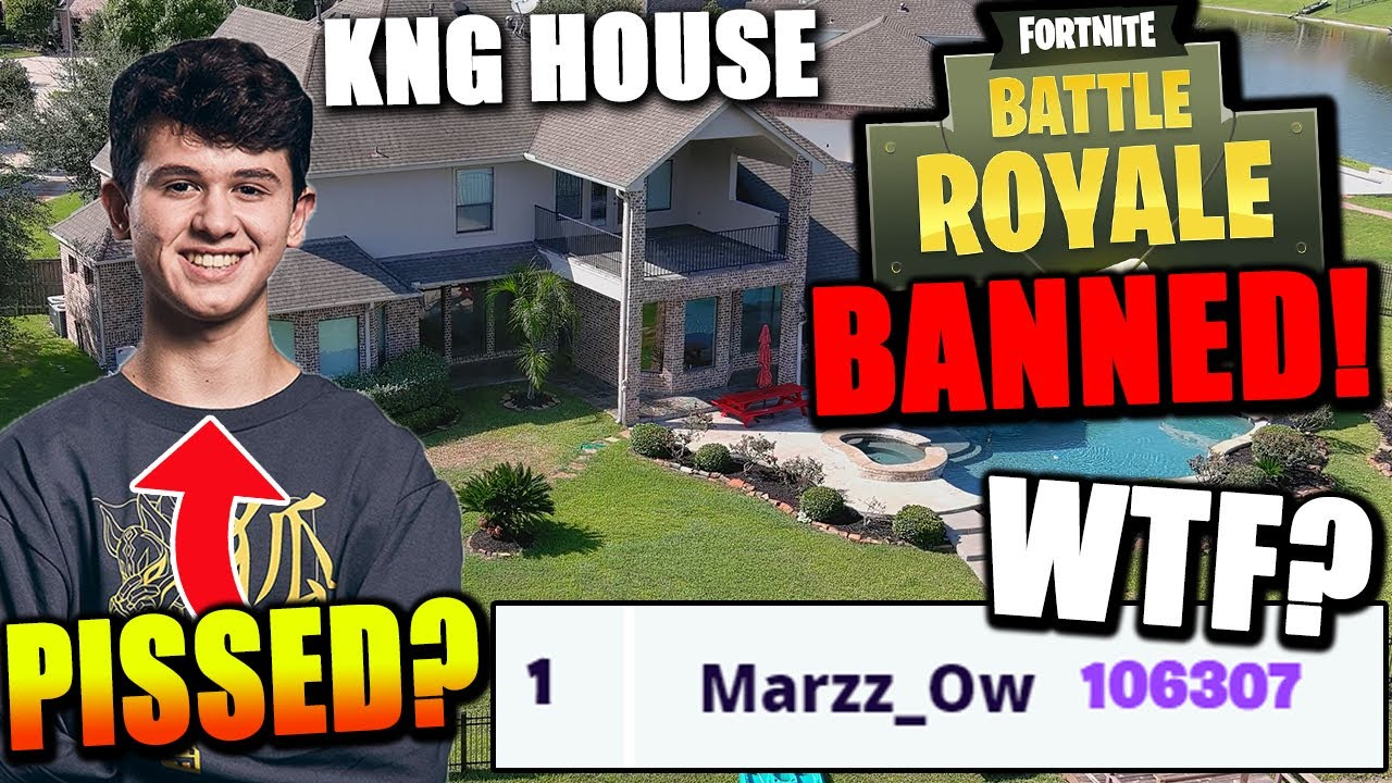 Fortnite Getting BANNED..? Why? KNG House Tour! 100,000 Arena Points!?! Bugha Loses DH To TAXI!
