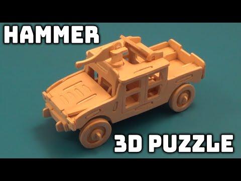 Изобрежения Супер ХАММЕР из дерева!!!!!!!! 3D Puzzle с Aliexpress