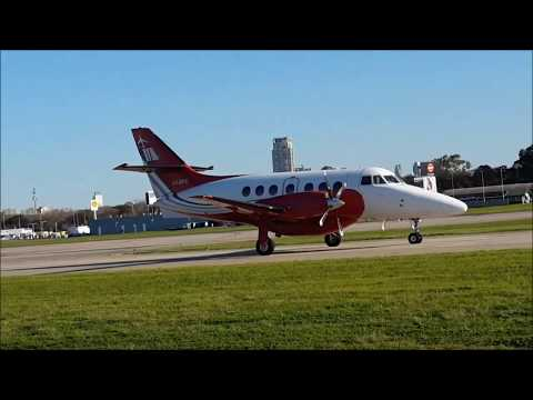 McAir Jet BAe Jetstream 32 LV-ZPZ taxiing to parking | Aeroparque