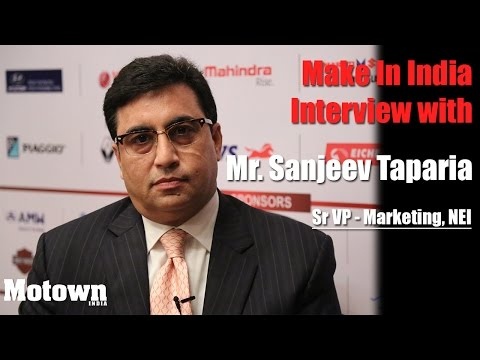 Interview with Sanjeev Taparia, Sr Vice President-Marketing, National Engineering Industries