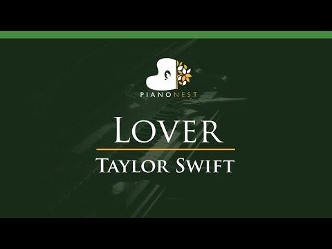 Taylor Swift - Lover - LOWER Key (Piano Karaoke / Sing Along) thumbnail