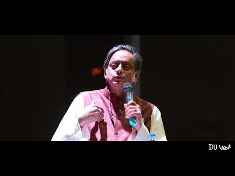 I am delighted to be ba ck at Delhi University, my alma mater Dr. Shashi Tharoor