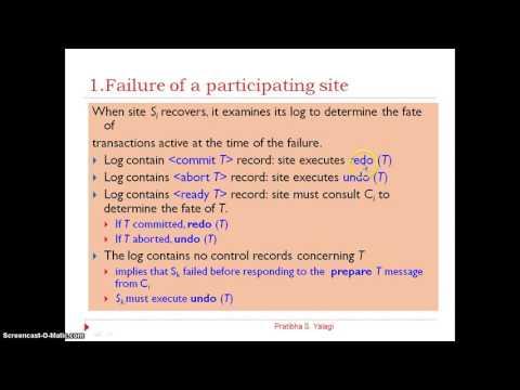 2 Phase Commit Protocol & Its Failure Handling by Prof: Pratibha Yalagi