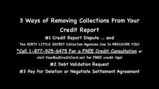 Kiedy są zbiory usunięte z raportu kredytowego