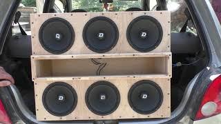 6 динамиков Dl Audio Phoenix Hybrid Neo 165 в коробе фи от штатной магнитолы в 1,33ома