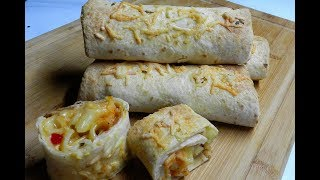 PASTA CHEESE BURRITO | Tortilla Wrap