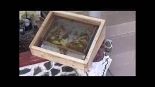 видео Самодельная солнечная воскотопка