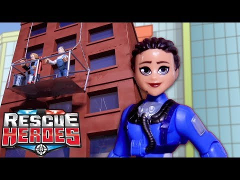 Rescue Heroes™ - Dangling In Danger | Kids Heroes | Fisher-Price | Stop-Motion | Toy Play