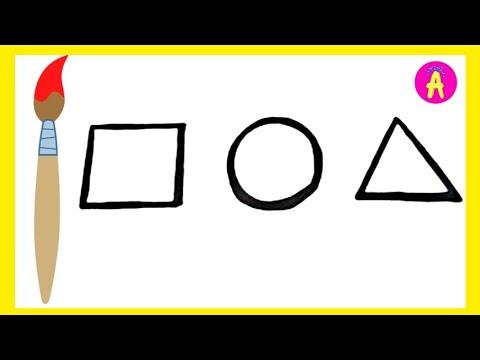 РАСКРАСКА Геометрические фигуры | Как нарисовать и ...