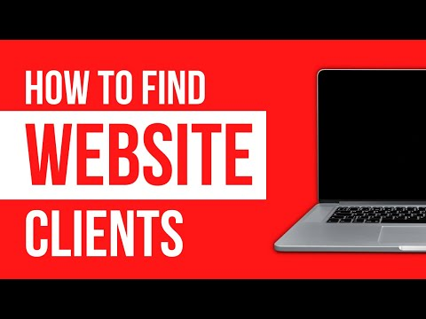 How To Find Web Design Clients