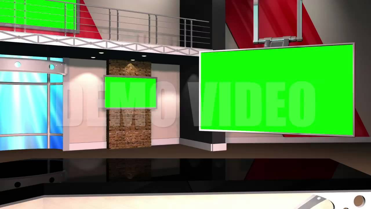 Right Angle News Studio Background Template - YouTube