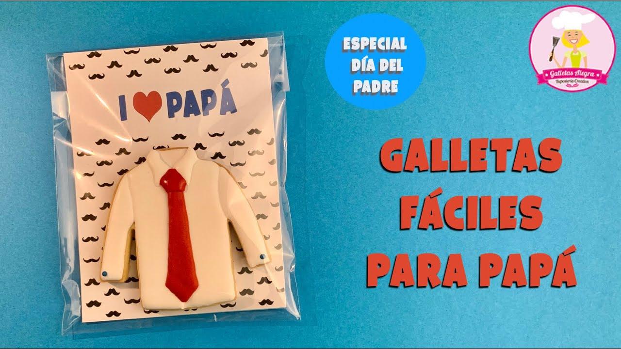 GALLETAS DE CAMISA CON CORBATA PARA PAPÁ | DÍA DEL PADRE | ROYAL ICING