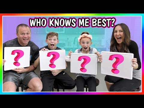 WHO KNOWS ME BEST? | We Are The Davises