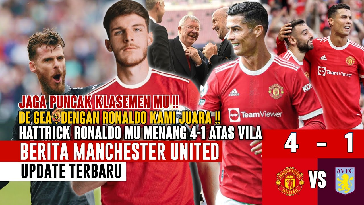 Download HATTRICK RONALDO❗MU Menang 4-1 Vs Aston Villa 😍 Rekor Ronaldo 🤝 Prediksi Mimin 📝 Transfer DeclanRice
