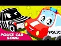 Police Car Song |  Little Red Car | Cartoon by Kids Channel