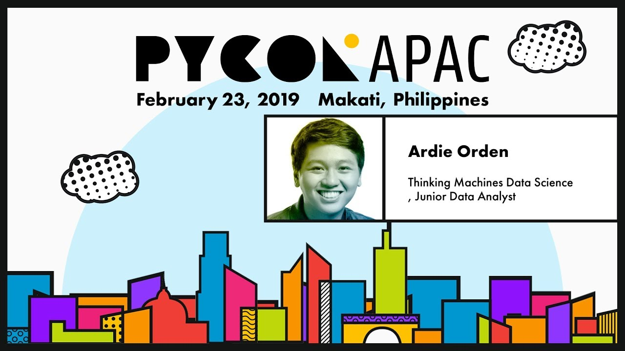Image from PyCon APAC 2019 - Ardie Orden - Using Artificial Intelligence and Satellite Imagery