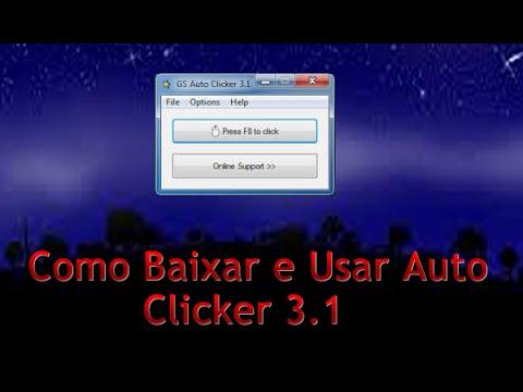 Como Baixar e Usar Auto Clicker 3.1