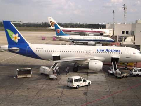 lao airlines A320 slide